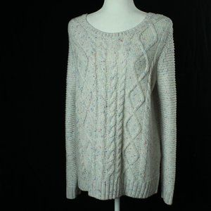 Sonoma   Cable Knit Front Sweater   Size: L